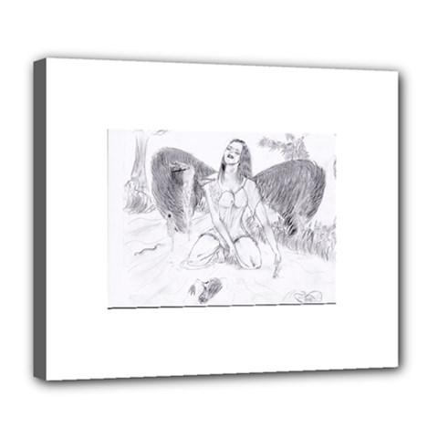 Bleeding Angel 1  Deluxe Canvas 24  x 20  (Framed)