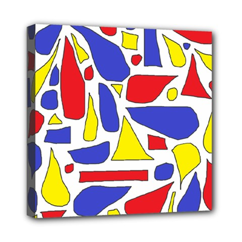 Silly Primaries Mini Canvas 8  x 8  (Framed)