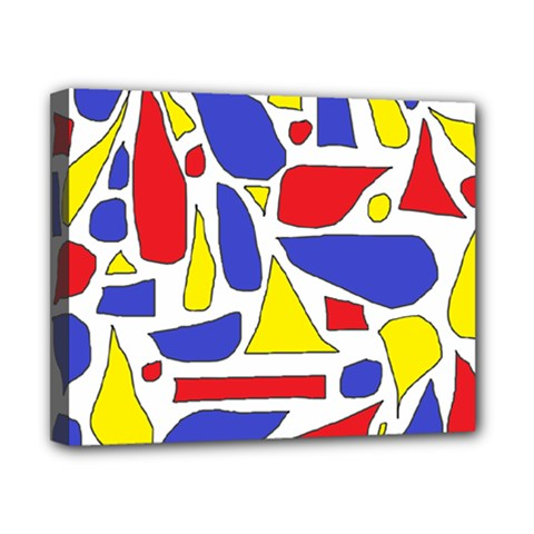 Silly Primaries Canvas 10  x 8  (Framed)