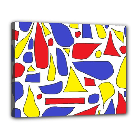 Silly Primaries Canvas 14  X 11  (framed)