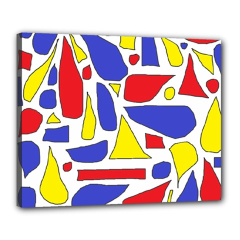 Silly Primaries Canvas 20  x 16  (Framed)