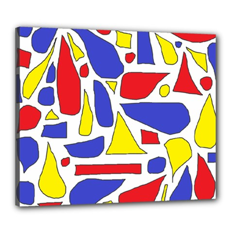Silly Primaries Canvas 24  x 20  (Framed)