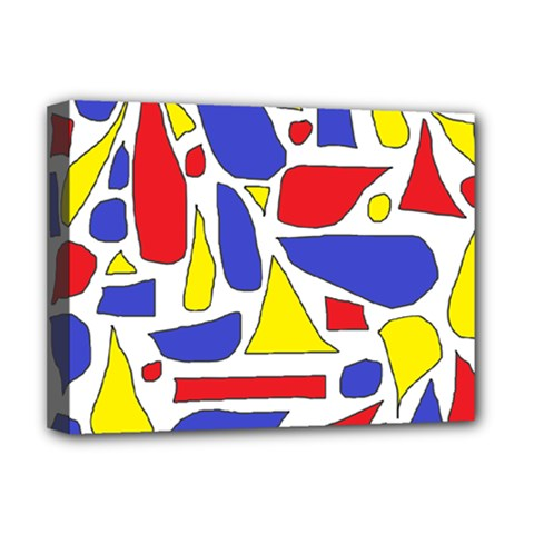 Silly Primaries Deluxe Canvas 16  x 12  (Framed)