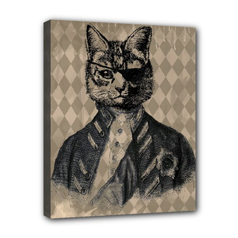 Harlequin Cat Canvas 10  x 8  (Framed)