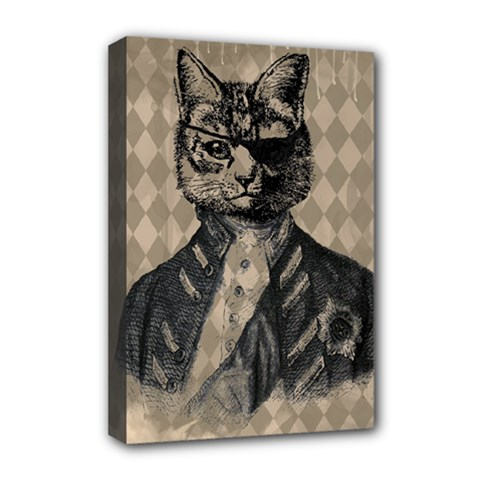 Harlequin Cat Deluxe Canvas 18  x 12  (Framed)
