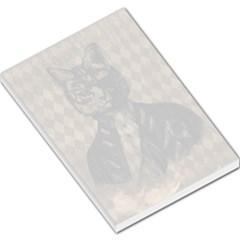 Harlequin Cat Large Memo Pad