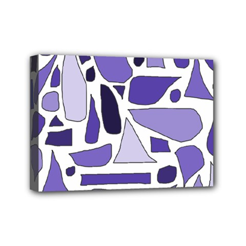 Silly Purples Mini Canvas 7  X 5  (framed)