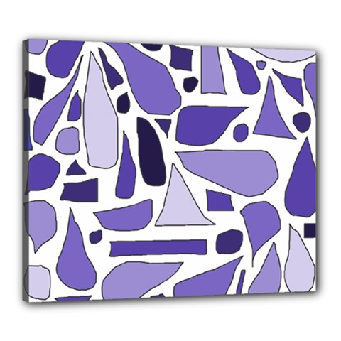 Silly Purples Canvas 24  X 20  (framed)
