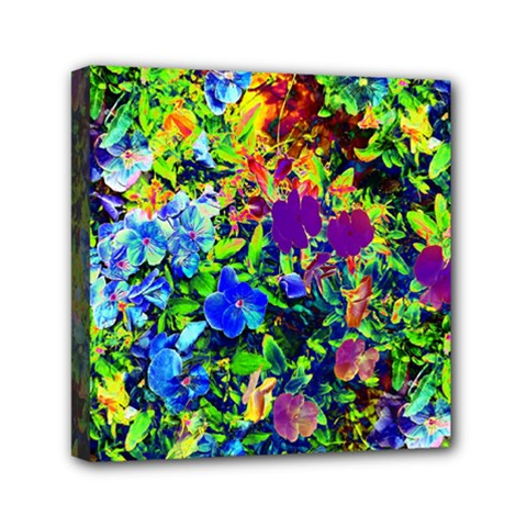 The Neon Garden Mini Canvas 6  x 6  (Framed)