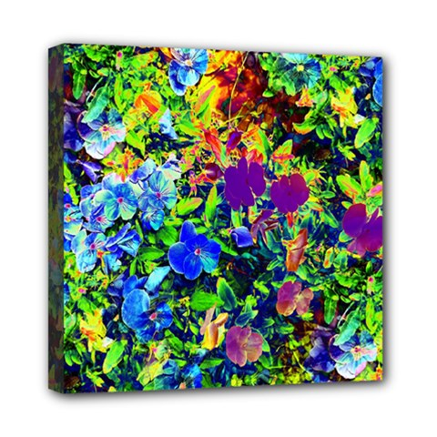 The Neon Garden Mini Canvas 8  x 8  (Framed)