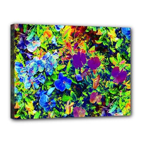The Neon Garden Canvas 16  x 12  (Framed)