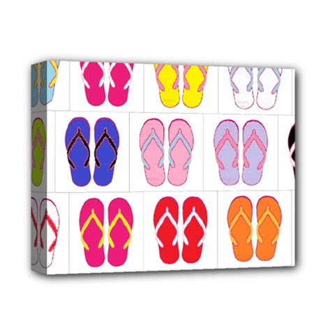 Flip Flop Collage Deluxe Canvas 14  x 11  (Framed)