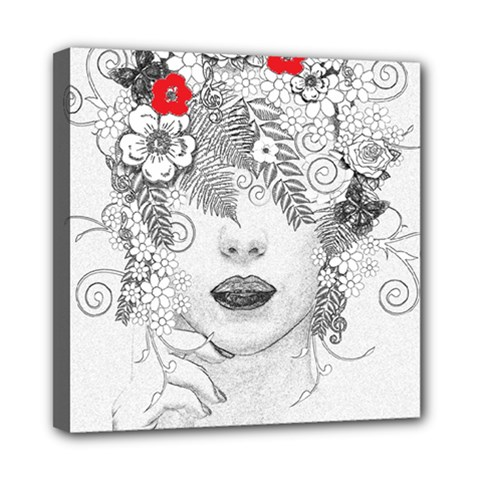 Flower Child Mini Canvas 8  x 8  (Framed)