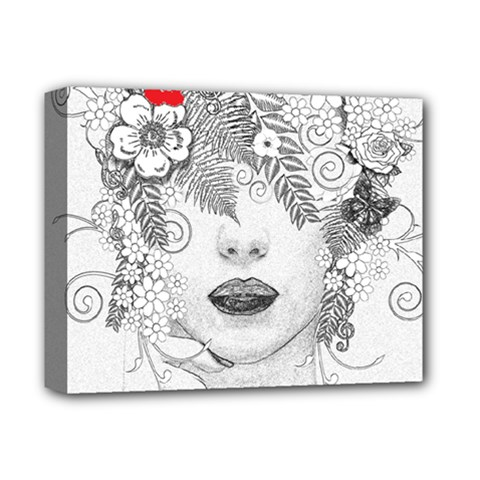 Flower Child Deluxe Canvas 14  X 11  (framed)