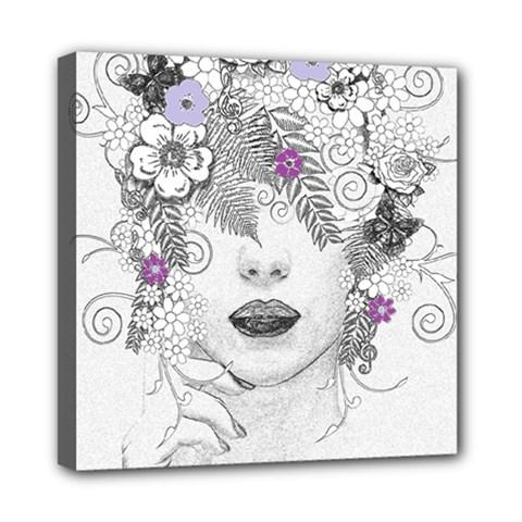 Flower Child Of Hope Mini Canvas 8  x 8  (Framed)