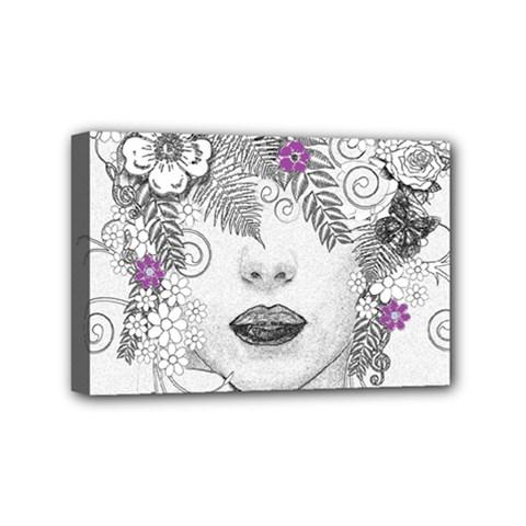 Flower Child Of Hope Mini Canvas 6  X 4  (framed)