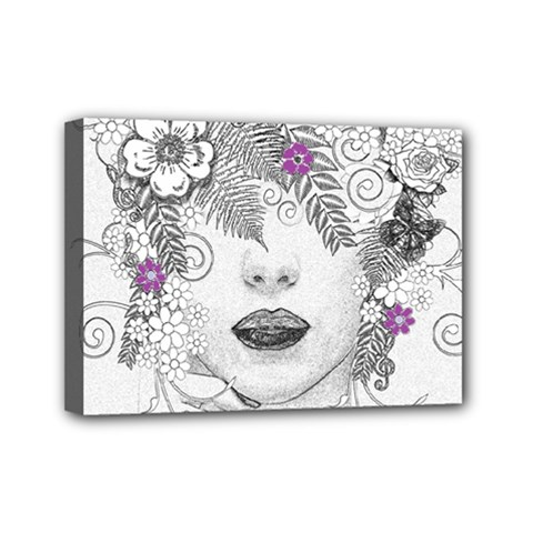 Flower Child Of Hope Mini Canvas 7  X 5  (framed)