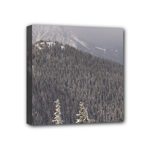 Mountains Mini Canvas 4  X 4  (framed)