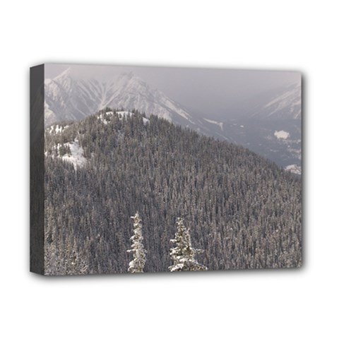 Mountains Deluxe Canvas 16  X 12  (framed)