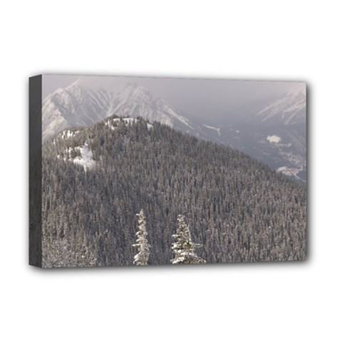 Mountains Deluxe Canvas 18  x 12  (Framed)
