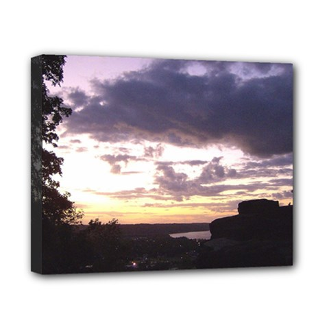 Sunset Over The Valley Canvas 10  X 8  (framed)