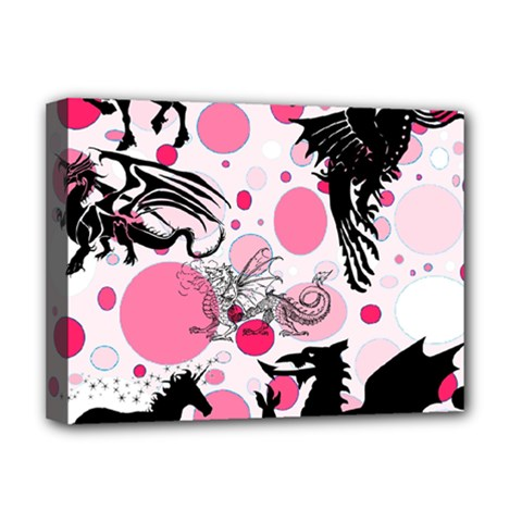 Fantasy In Pink Deluxe Canvas 16  x 12  (Framed)