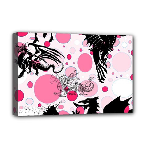 Fantasy In Pink Deluxe Canvas 18  x 12  (Framed)