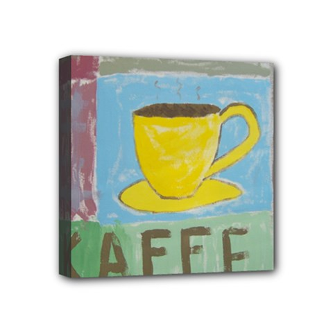 Kaffe Painting Mini Canvas 4  X 4  (framed)