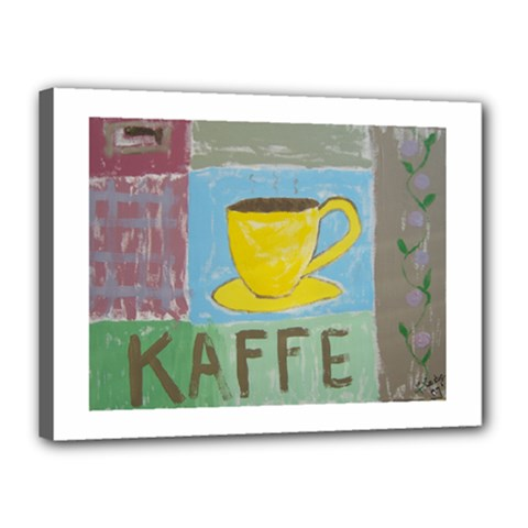 Kaffe Painting Canvas 16  x 12  (Framed)