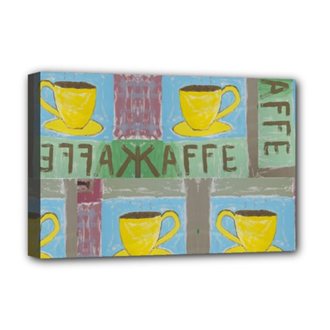 Kaffe Painting Deluxe Canvas 18  x 12  (Framed)