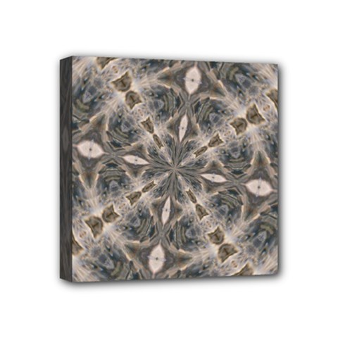 Flowing Waters Kaleidoscope Mini Canvas 4  X 4  (framed)