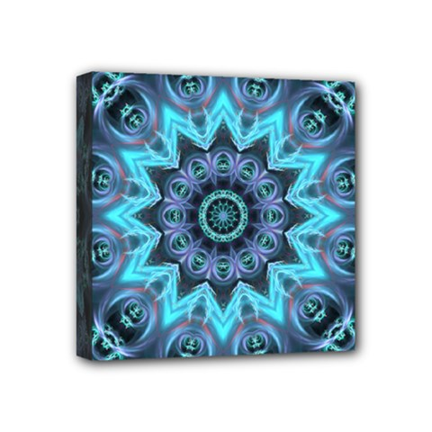 Star Connection, Abstract Cosmic Constellation Mini Canvas 4  x 4  (Framed)