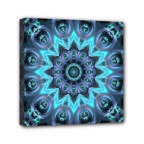 Star Connection, Abstract Cosmic Constellation Mini Canvas 6  X 6  (framed)