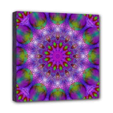 Rainbow At Dusk, Abstract Star Of Light Mini Canvas 8  x 8  (Framed)