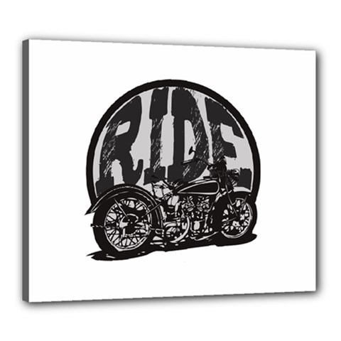 Ride Vintage Motorcycles Canvas 24  x 20  (Stretched)
