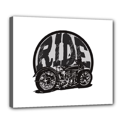 Ride Vintage Motorcycles Deluxe Canvas 24  x 20  (Stretched)