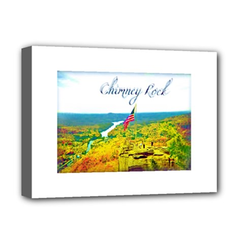 Chimney Rock Overlook Air Brushed Deluxe Canvas 16  X 12  (framed)
