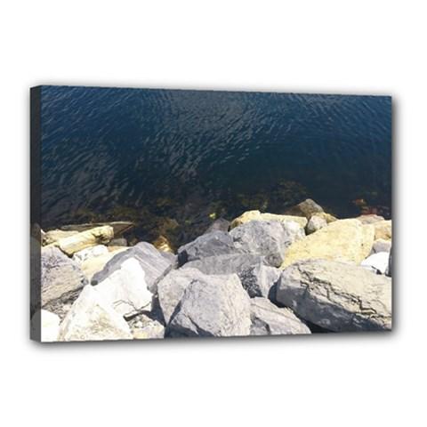 Atlantic Ocean Canvas 18  X 12  (framed)