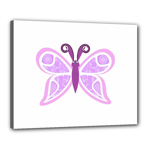 Whimsical Awareness Butterfly Canvas 20  x 16  (Framed)