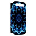 Crystal Star, Abstract Glowing Blue Mandala Samsung Galaxy S III Hardshell Case (PC+Silicone) View2