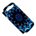 Crystal Star, Abstract Glowing Blue Mandala Samsung Galaxy S III Hardshell Case (PC+Silicone) View5