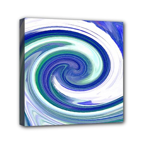 Abstract Waves Mini Canvas 6  x 6  (Framed)