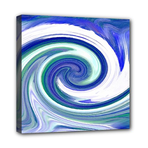 Abstract Waves Mini Canvas 8  X 8  (framed)