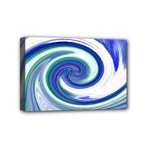 Abstract Waves Mini Canvas 6  x 4  (Framed)