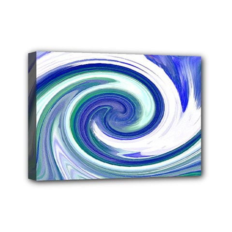 Abstract Waves Mini Canvas 7  x 5  (Framed)