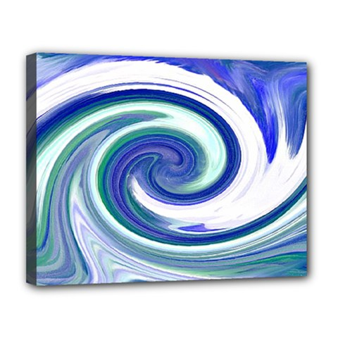 Abstract Waves Canvas 14  X 11  (framed)