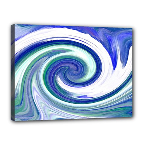 Abstract Waves Canvas 16  X 12  (framed)