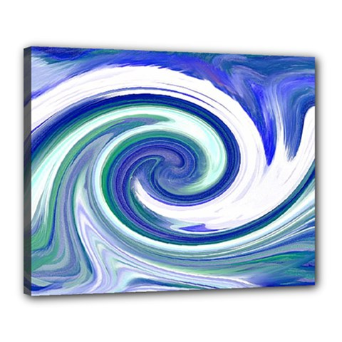 Abstract Waves Canvas 20  x 16  (Framed)