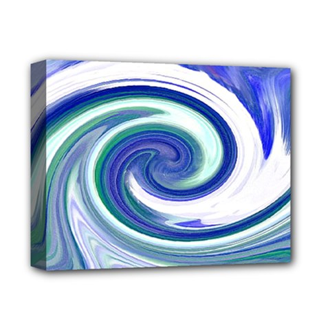 Abstract Waves Deluxe Canvas 14  x 11  (Framed)