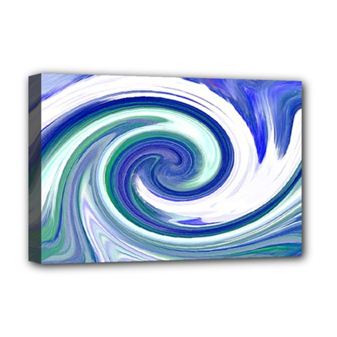 Abstract Waves Deluxe Canvas 18  X 12  (framed)